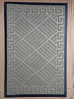 Коврик велюровый серый 90 х 60