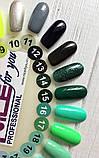 Гель-лак Nice for you № 14 (зеленый с блестками) 8.5 мл, фото 2