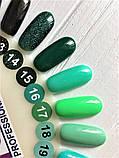 Гель-лак Nice for you № 14 (зеленый с блестками) 8.5 мл, фото 5