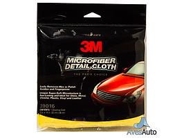 Микрофибровая салфетка - 3M Microfiber Detail Cloth Clip желтый (39016)