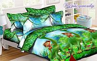 Детское полуторное постельное белье Добрый Динозавр