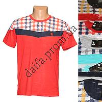 Мужская котоновая футболка M12-2m (в уп. до 5 разных расцветок) оптом со склада в Одессе