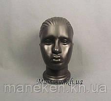 Манекен объемный голова женская черная, фото 3