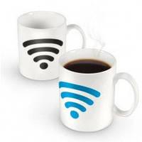 Чашка - хамелеон Wi Fi , оригинальные подарки