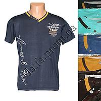 Мужская котоновая футболка M14m (в уп. до 5 разных расцветок) оптом со склада в Одессе