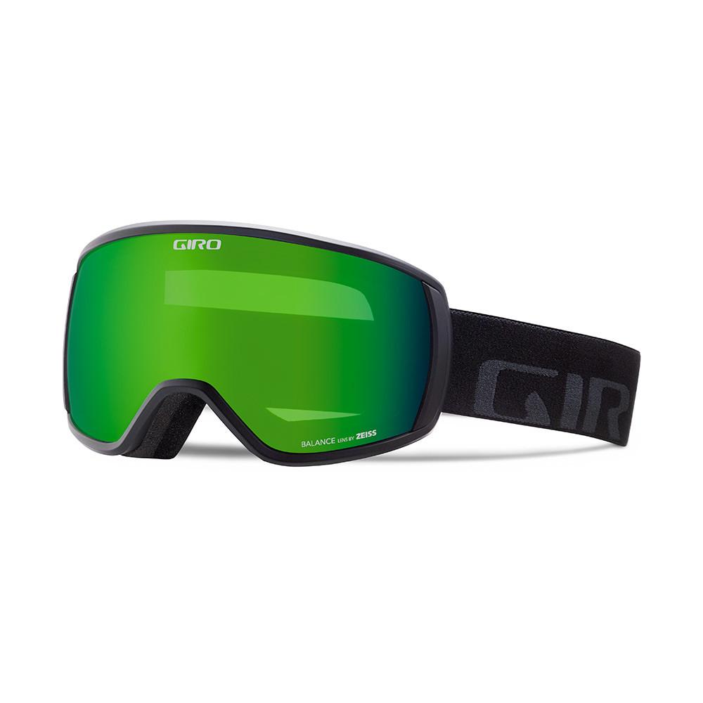 Горнолыжная маска Giro Balance Flash чёрная Wordmark, Loden green 26% (GT)