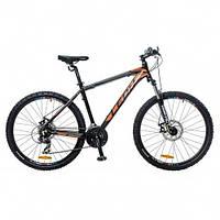 """Велосипед 26"""" Leon HT-85 AM 14G Vbr рама-18"""" Al черно-оранжевый 2016"""