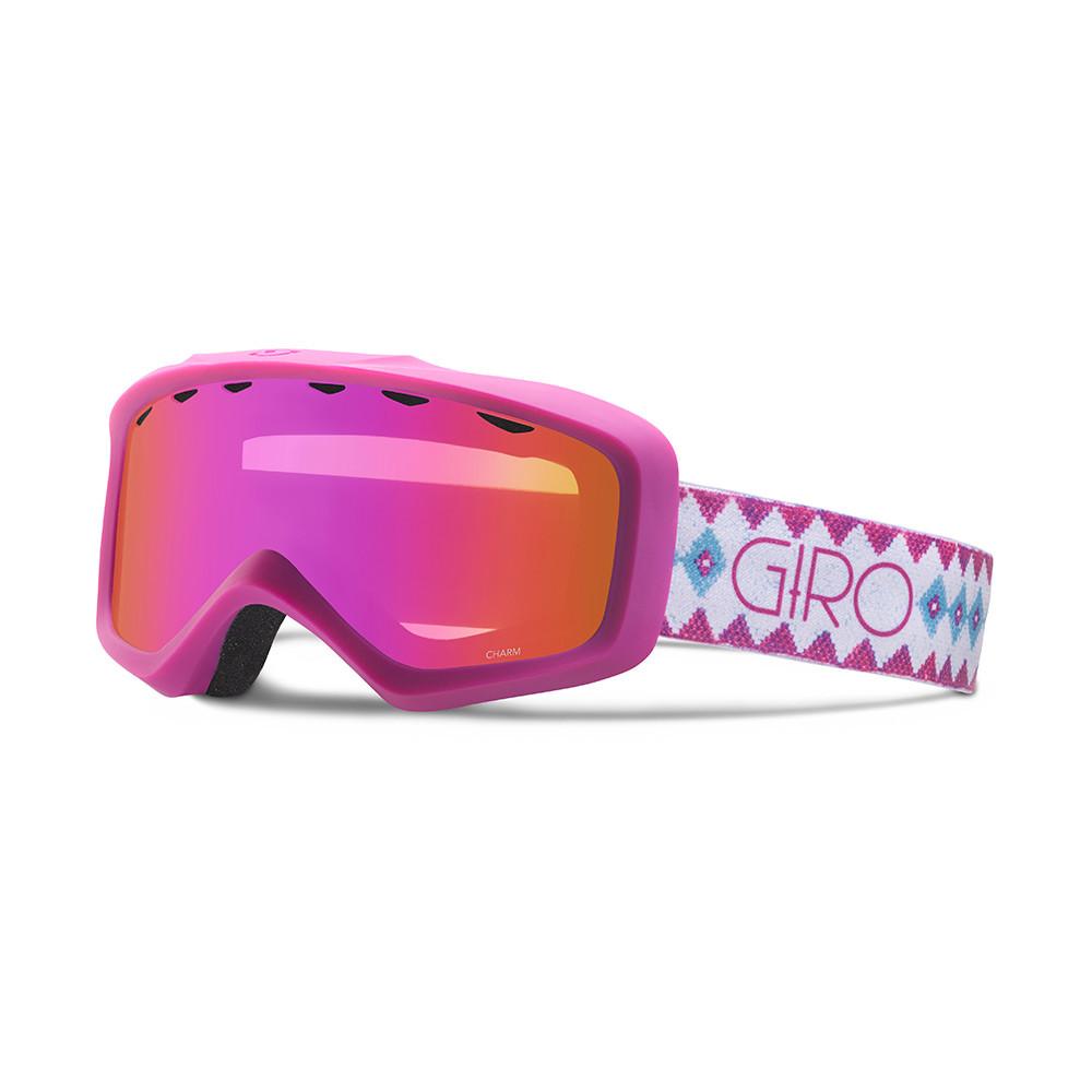 Горнолыжная маска Giro Charm Flash белая/Berry Beaded, Amber Pink 37% (GT)