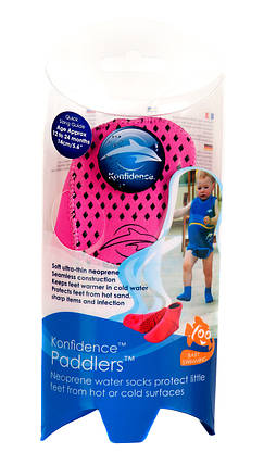 Носки для бассейна и пляжа Paddlers, Цвет: Fuchsia Pink, M/ 6-12 мес, фото 2