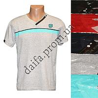 Мужская котоновая футболка M16m (в уп. до 5 разных расцветок) оптом со склада в Одессе