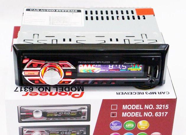 Автомагнитола 6317 мульти подсветка Usb RGB Fm Aux пульт