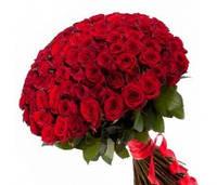 Букет из 101 бархатной розы