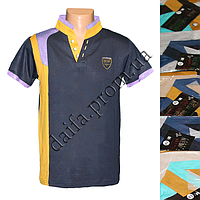 Мужская котоновая футболка M18m (в уп. до 5 разных расцветок) оптом со склада в Одессе
