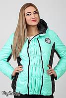 Теплая демисезонная куртка для беременных Lemma, мятная