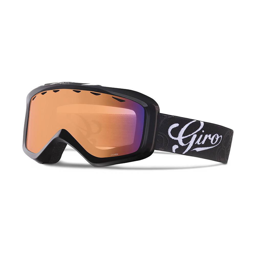 Горнолыжная маска Giro Charm Flash чёрная Sketch Floral, Persimmon Boost 52% (GT)