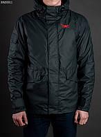 Куртка мужская весенняя STF matt хаки, с капюшоном (осень-весна)