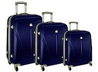 Чемодан сумка 882 XXL набор 3 штуки темно-синий