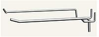 Крючок одинарный с ценникодержателем 250 мм, Гачок одинарний з цінникотримачем 250 мм
