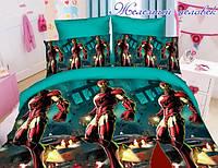 Детское полуторное постельное белье Железный Человек, Iron Man