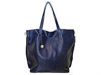 Женская кожаная сумка-тоут в стиле Фурла (синяя) №3399