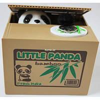 Интерактивная копилка воришка Little Panda, money box Панда воришка, фото 1