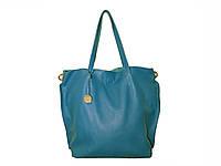 Женская кожаная сумка-тоут в стиле Фурла (морская волна) №3399