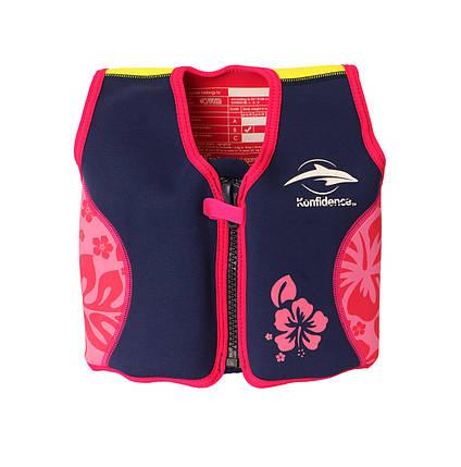 Плавательный жилет Konfidence Original Jacket, Цвет: Navy/Pink/Hibiscus, M/ 4-5 г , фото 2