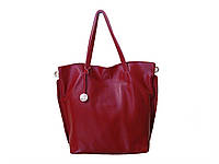 Женская кожаная сумка-тоут в стиле Фурла (вишневая) №3399