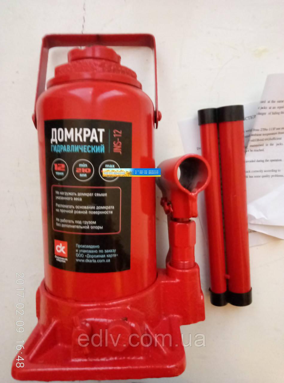 Домкрат бутылочный 12т  красный H=210/400 JNS-12