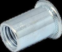 Гайка гладкая М3/0,5-1,5 клепальная с буртиком D5