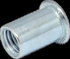 RF-Гайка гладка М 3/0,5-1,5 клепальная буртик D5 (500шт/уп)