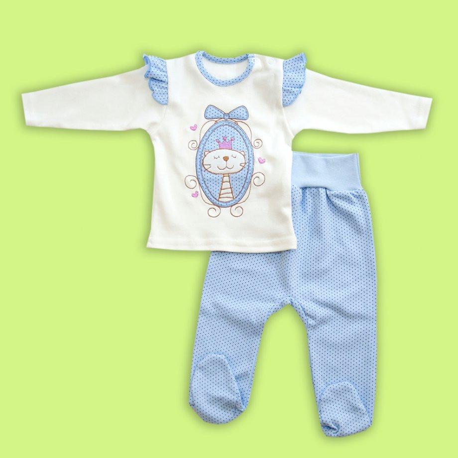 Комплект для малышек Принцесса 62/68 голубой