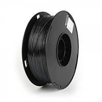 Пластиковый материал филамент gembird 3dp-ps1.75-01-bk для 3d-принтера polymer silk 1.75 мм черный