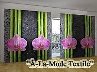 """Панорама Объемная 3D ФотоШтора """"Орхидеи и бамбук 2"""""""
