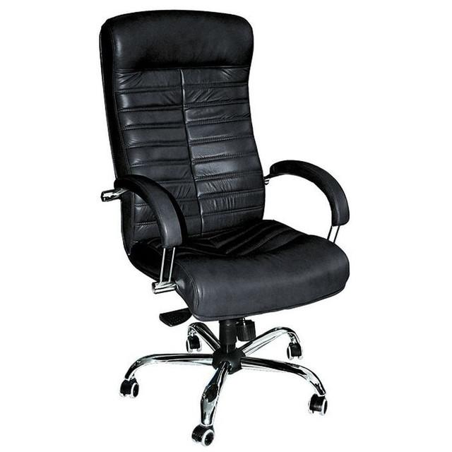 Кресло Орион НВ Хром Механизм Anyfix к/з Неаполь-20 Чёрный.