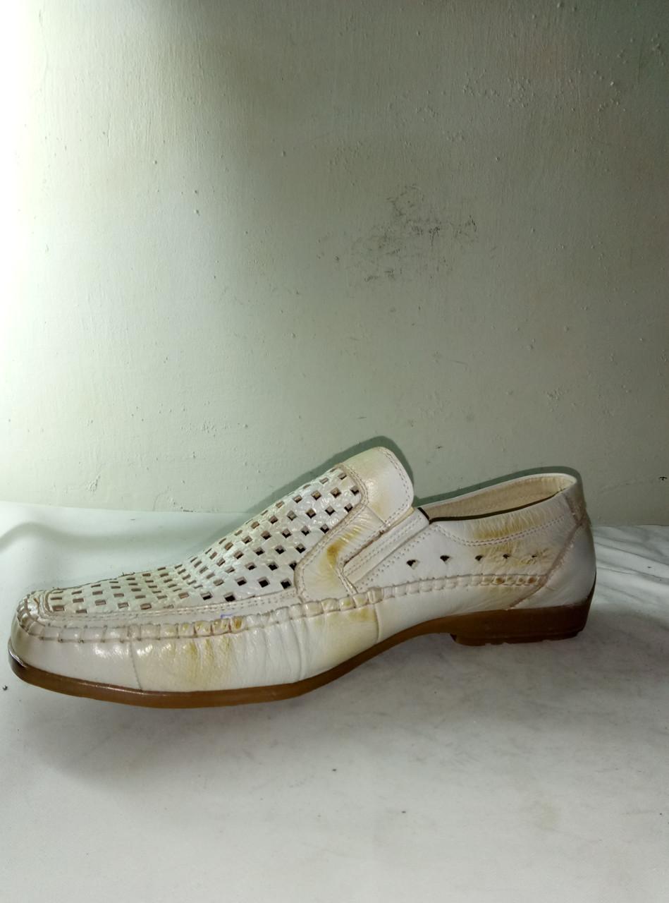 Туфли мужские летние очень хорошего качества на полиуретановой подошве JIESEDER