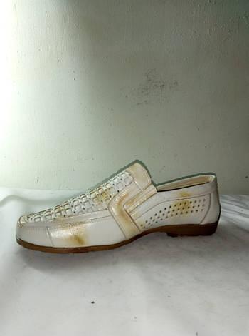 Туфли мужские летние очень хорошего качества на полиуретановой подошве JIESEDER, фото 2