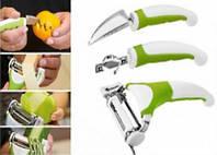 Нож универсальный 3 в  1 Triple Slicer для нарезки овощей и фруктов (Трипл Слайсер)
