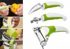 Ніж універсальний 3 в 1 Triple Slicer для нарізки овочів і фруктів (Тріпл Слайсер)