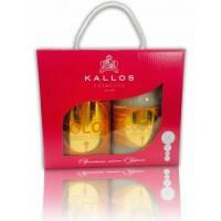 Подарочный набор Kallos шампунь+маска в упаковке с ручкой
