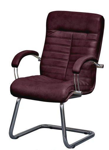 Кресло Орион CF Хром Мадрас бордо.