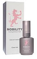 Био-гель (каучук) Lechat NOBILITY CLEAR GEL - прозрачный с кисточкой, 15 мл
