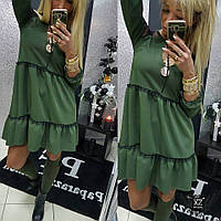 Шикарное Свободное Платье с кружевом