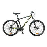 "Велосипед 26"" Leon HT-80 AM 14G DD рама-20"" Al черно-желтый 2016"