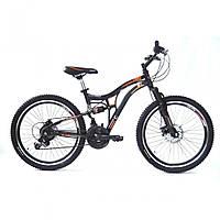 """Велосипед Crossride Explorer 26"""" AMT (2015) / (черный/оранжевый)"""