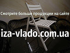 Білий дерев'яний складаний стілець для організації заходів