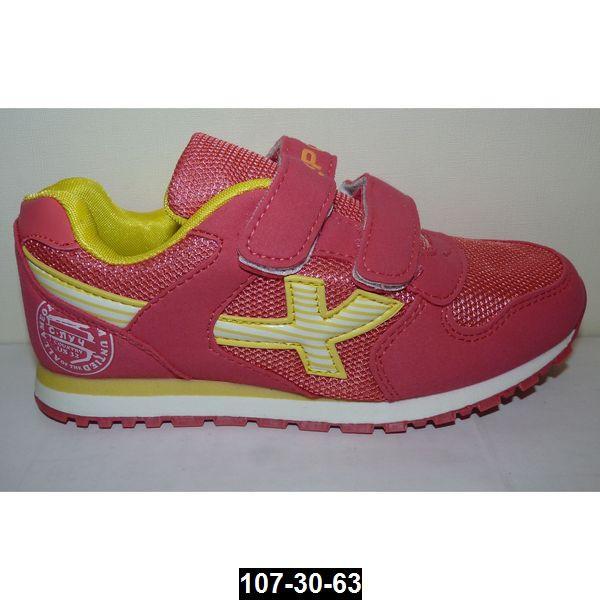 Дышащие кроссовки для девочки, 35 размер, кожаная стелька, супинатор