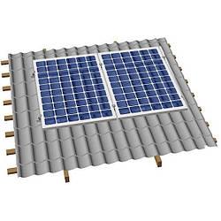 Система крепления солнечных батарей на наклонную крышу для 2х модулей