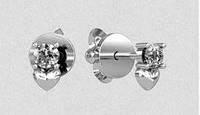 Серьги серебряные гвоздики СП-00458
