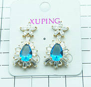New! Позолоченные серьги Xuping Jewelry 2017 оптом. Серьги с позолотой XP.